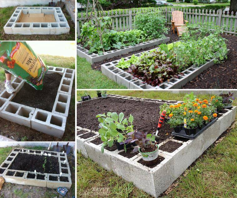 Cinder Block Raised Garden Beds