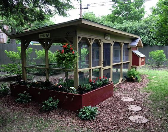 Pretty Custom Chicken Coop